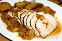 Roast Loin of Pork with Spiced Apple Cider Apples