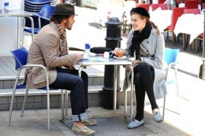 Maggie Grace Sips Tea Toe to Toe with Blake Mycoskie