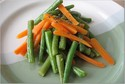 French-style Green Beans and Carrots with Pomegranate-Balsamic Glaze