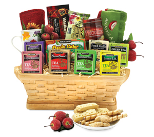 Bountiful Harvest Tea Basket