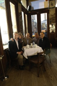Phil Simms, Cindi Bigelow, Terry Francona, Bob Kelly (SVP Bigelow Tea) and Joe Torre