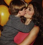 Elizabeth Hurley and son Damian Charles