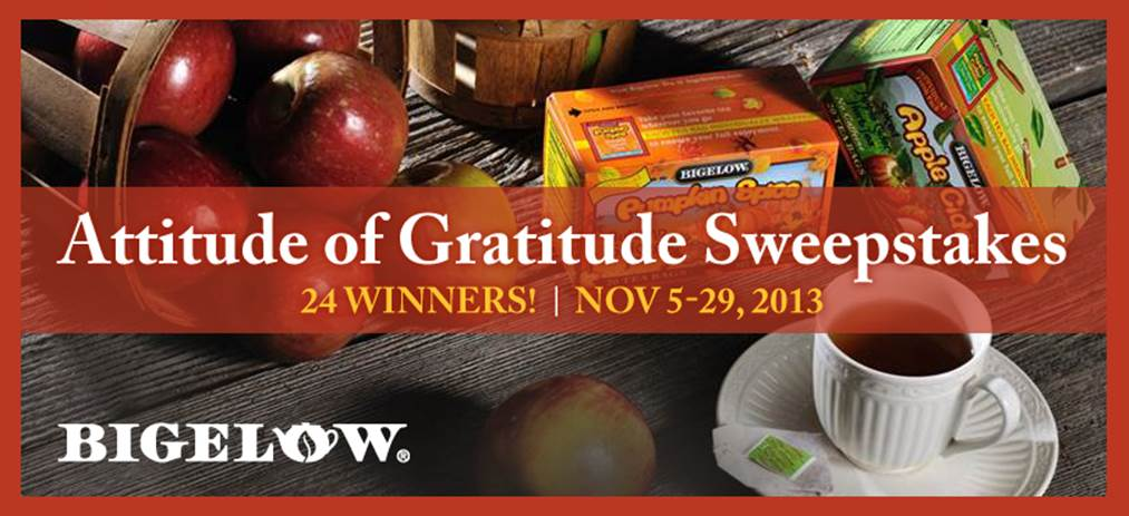 Bttues_Enter The Attitude Of Gratitude Bigelow Sweeepstakes To Win Our Fall Tea Flavors!
