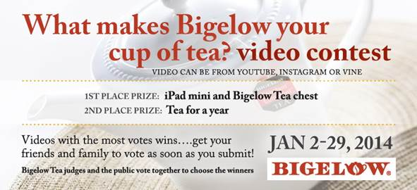 btthurs_Win An iPad Mini And Tea Video Contest- What Makes Bigelow Your Cup Of Tea?
