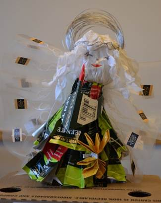 bttues5_Trimming Bigelow Tea's #Eco Tree With Upcycled Ornaments!