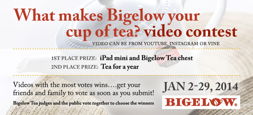btwed_Still Time To Enter the Bigelow Tea Video Contest To Win An iPad Mini!