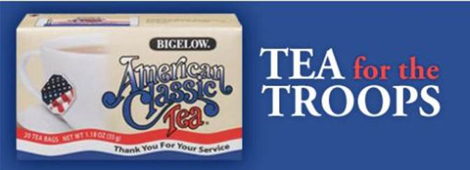 bigelow tea for troops